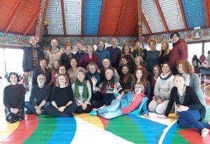 世界舞蹈日在西火山营的金刚舞共修日